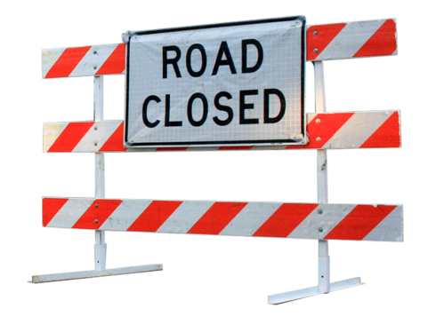 Road Closed Barricade